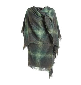 CAPES & RUANAS CELTIC RUANA - Moss Green