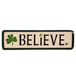 """PLAQUES, SIGNS & POSTERS """"BELIEVE"""" IRISH WOOD SIGN"""