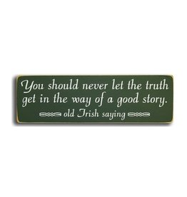 """PLAQUES & GIFTS """"YOU SHOULD NEVER"""" WOOD SIGN"""