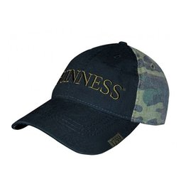 CAPS & HATS GUINNESS WASHED CAMO PRINT BASEBALL CAP