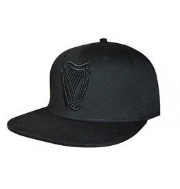 CAPS & HATS GUINNESS BLACK HARP FLAT BRIM BASEBALL CAP