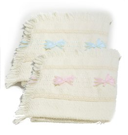 BABY BLANKETS BRANIGAN WEAVERS BABY BLANKET with RIBBONS