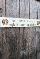 "PLAQUES & GIFTS ""FAMILY FOREVER..."" CARVED WOOD SIGN"