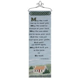 TAPESTRIES, THROWS, ETC. MAY THE ROAD RISE WALLHANGING