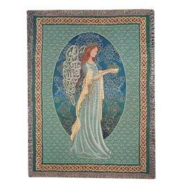 TAPESTRIES, THROWS, ETC. IRISH ANGEL CELTIC THROW