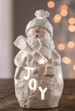 "SNOWMEN BELLEEK LIVING ""JOY"" SNOWMAN VOTIVE"