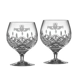 BARWARE GALWAY CRYSTAL CLADDAGH BRANDY SNIFTER (2)