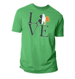 SHIRTS TRI-COLOR LOVE TSHIRT with SHAMROCK
