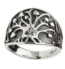 """RINGS SHANORE GENERATIONS """"TRINITY TREE OF LIFE"""" STERLING SILVER RING"""