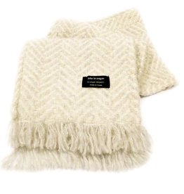 ACCESSORIES BRANIGAN WEAVERS SCARF - CREAM HERRI