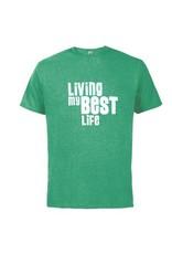 "SHIRTS ""LIVING MY BEST LIFE"" SHAMROCK SHIRT"