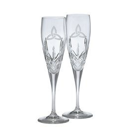 WEDDING GALWAY CRYSTAL TRINITY  FLUTES (2)