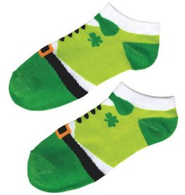 ST PATRICK'S DAY NOVELTY LEPRECHAUN NO SHOW SOCKS