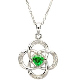 PENDANTS & NECKLACES SHANORE STERLING CELTIC KNOT BIRTHSTONE PENDANT