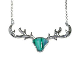 PENDANTS & NECKLACES HEATHERGEM STAG ANTLER SILVER PLATED PENDANT