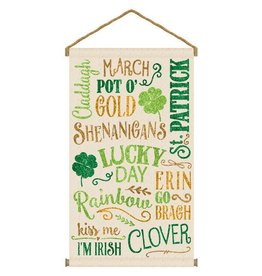 ST PATRICK'S DAY ST PAT'S HANGING BANNER SIGN