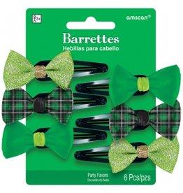 ST PATRICK'S DAY NOVELTY BARRETTES - 6 PACK