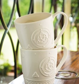 KITCHEN & ACCESSORIES SET OF 2 BELLEEK CELTIC TRINITY MUGS