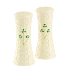 KITCHEN & ACCESSORIES BELLEEK SHAMROCK LARGE SALT & PEPPER