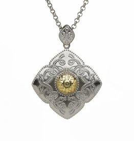 PENDANTS & NECKLACES BORU STERLING & 18K DIAMOND SHAPED CELTIC WARRIOR PENDANT