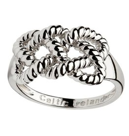 RINGS CLEARANCE - SHANORE STERLING FISHERMAN KNOT RING - FINAL SALE