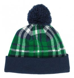 ST PATRICK'S DAY GREEN PLAID BEANIE