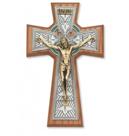 RELIGIOUS CRUCIFIX CELTIC WALNUT