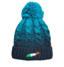 ACCESSORIES CARLETON TEAL-FADE POM POM HAT