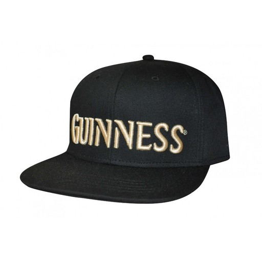 8119fe53b6233 GUINNESS BLACK   CREAM FLAT BRIM BASEBALL CAP - Irish Crossroads