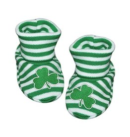 BABY ACCESSORIES SHAMROCK STRIPED BABY BOOTIES