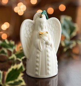 ORNAMENTS BELLEEK BELL ANGEL ORNAMENT with HARP