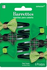 ST PATRICK'S DAY NOVELTY BARRETTES - 6 PACK