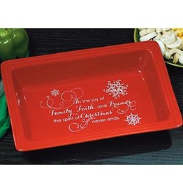 "HOLIDAY DECOR ""FAMILY FAITH & FRIENDS"" CASSEROLE DISH"