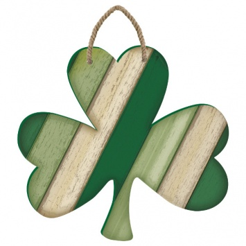"""ST PATRICK'S DAY SHAMROCK """"PALLET STYLE"""" WALL HANGING"""