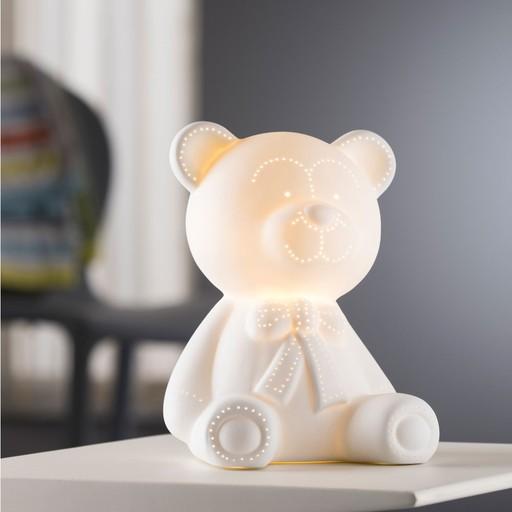 CANDLES & LIGHTING BELLEEK TEDDY BEAR LUMINAIRE