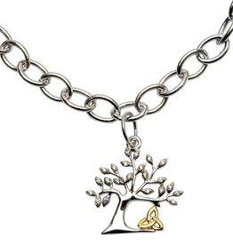 BRACELETS & BANGLES SHANORE STERLING TREE OF LIFE TRINITY BRACELET