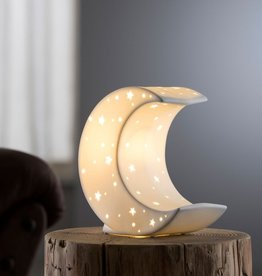 CANDLES & LIGHTING BELLEEK LIVING CRESCENT MOON LUMINAIRE