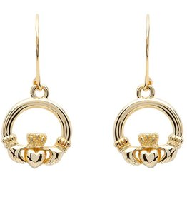 EARRINGS SHANORE 10K CLADDAGH DROP EARRINGS