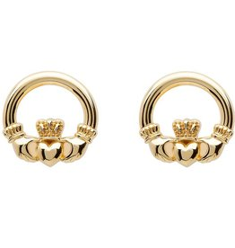 EARRINGS SHANORE 10K CLADDAGH STUD EARRINGS