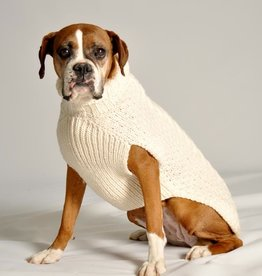 SWEATERS DOG SWEATER: ARAN CABLE KNIT