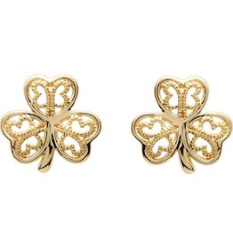 EARRINGS SHANORE 10K SHAMROCK STUD EARRINGS