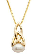 PENDANTS & NECKLACES SHANORE 10K TRINITY with PEARL PENDANT