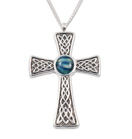 CROSSES HEATHERGEM EMBOSSED CELTIC CROSS PENDANT