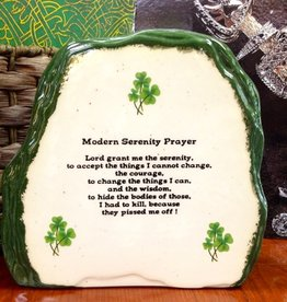 "NOVELTY LARGE ""MODERN IRISH"" SERENITY PRAYER STONE"