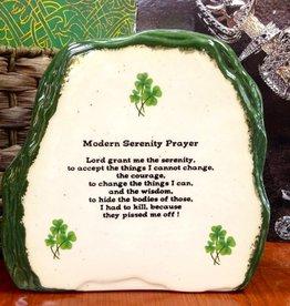 """RELIGIOUS LARGE """"MODERN IRISH"""" SERENITY PRAYER STONE"""