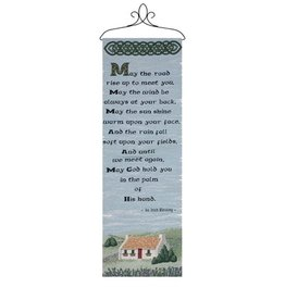 "TAPESTRIES, THROWS, ETC. ""MAY THE ROAD RISE …"" WALLHANGING"