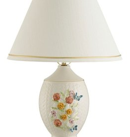 DECOR BELLEEK WICKERWEAVE PAINTED LAMP