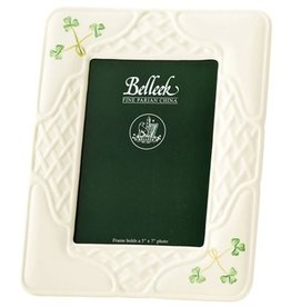 FRAMES & DECOR BELLEEK SHAMROCK TRELLIS FRAME 5X7""