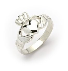 RINGS FADO STERLING HEAVY LADIES CLADDAGH RING