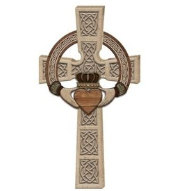 CROSSES CELTIC CLADDAGH WALL CROSS